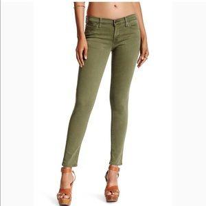 Hudson Jeans Ankle Krista Olive Color